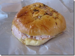 henri's bakery turkey on onion roll