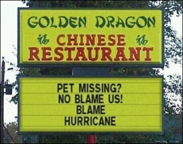 funny chinese restaurant sign